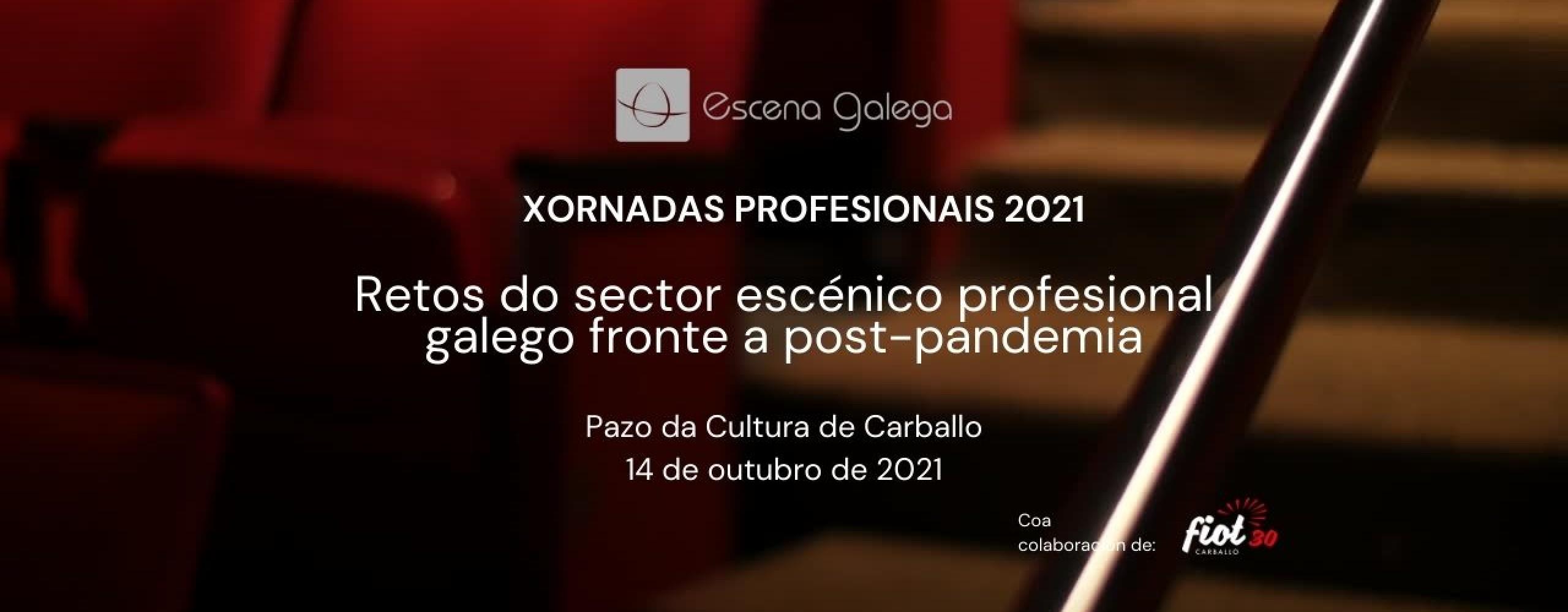 Escena Galega desenvolverá o vindeiro 14 de outubro as súas Xornadas Profesionais 2021