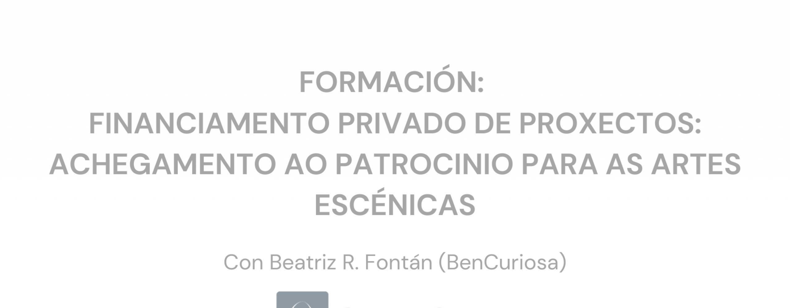 Arrinca o programa formativo de Escena Galega 2021 cun obradoiro en liña de financiamento privado nas artes escénicas